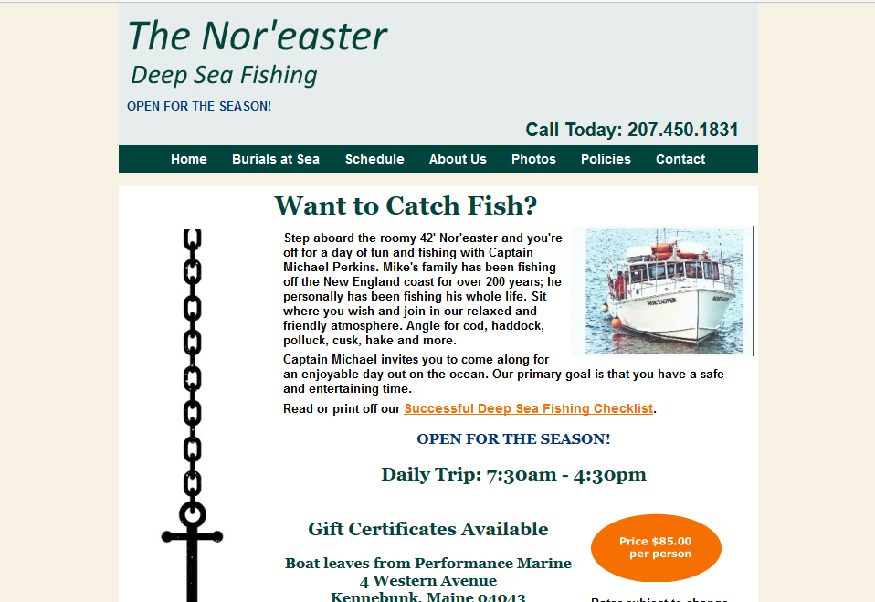 Noreaster fishing dlo consulting for Nor easter fishing
